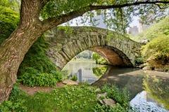 Brücke in Central Park Lizenzfreies Stockbild