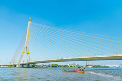 Brücke Chao Phraya River Bangkok Rama 8 Lizenzfreie Stockbilder