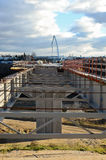Brücke constructin Lizenzfreies Stockfoto