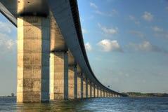 Brücke in Dänemark Stockbild