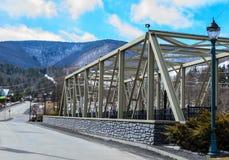 Brücke in den Catskill-Bergen stockfotos