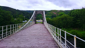 Brücke in den schottischen Hochländern Stockfotografie