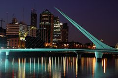Brücke der Frau, Buenos Aires Stockbild