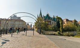 Brücke der Liebe in alter Stadt Kosice, Slowakei Lizenzfreies Stockfoto