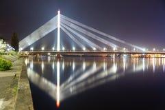 Brücke in der Nacht Stockbilder