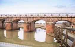 Brücke der roten Backsteine Lizenzfreie Stockfotografie