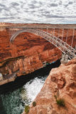 Brücke an der Schlucht-Verdammung in der Seite, Arizona stockbilder