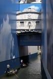 Brücke der Seufzer entstellt durch Anschlagtafeln Lizenzfreies Stockfoto