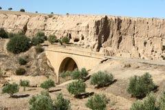 Brücke in der Wüste Lizenzfreie Stockfotos