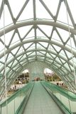 Brücke des Friedens auf der Kura - Tiflis Georgia Lizenzfreie Stockfotos