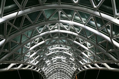 Brücke des Friedens Stehlen Sie und Glasbau Stockfotografie