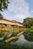 Brücke des Palastes in Thailand Stockbilder