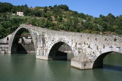 Brücke des Teufels, borgo ein mozzano, garfagnana Stockbilder