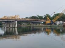 Brücke, die wieder aufgebaut wird Lizenzfreies Stockfoto