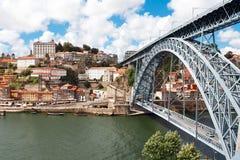 Brücke Dom Louis, Porto, Portugal Lizenzfreies Stockbild