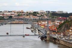 Brücke Dom LuÃs I, Porto, Portugal Stockbilder