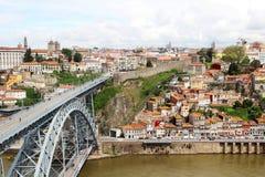 Brücke Dom LuÃs I, Porto, Portugal Stockfotos