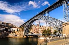 Brücke Dom Luis I Stockbild