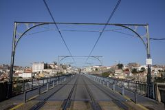 Brücke dom Luis I in Porto Lizenzfreies Stockbild