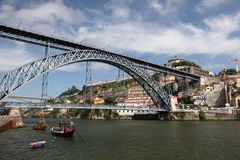 Brücke Dom-Luis in Porto Stockbild