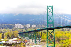 Brücke an einem Nebeltag Lizenzfreie Stockbilder