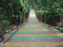 Brücke in einem Stadtpark Stockbild