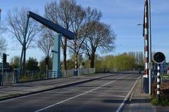Brücke am Ende von Fluss Oude IJssel Stockbilder