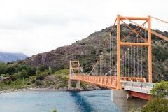 Brücke entlang dem Carretera Austral, Patagonia, Chile stockfotos
