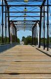 Brücke für Fußgänger und Fahrräder Stockfotos