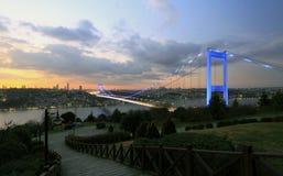 Brücke Fatih Sultan-Mehmet-(FSM), Istanbul Lizenzfreie Stockbilder