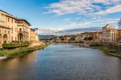 Brücke in Florene, Italien Stockbilder