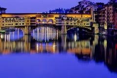 Brücke Florenz, Italien Stockfotografie