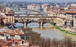 Brücke in Florenz in Toskana, Italien Stockbild
