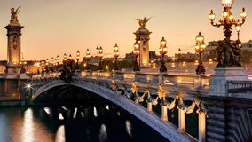 Brücke in Frankreich Lizenzfreie Stockfotos