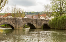 Brücke in Gerlachsheim Deutschland stockbilder