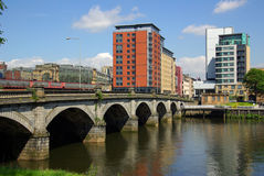 Brücke in Glasgow, Schottland Stockfoto