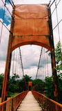 Brücke hölzern lizenzfreie stockfotografie
