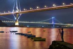 Brücke in Hong Kong lizenzfreies stockfoto