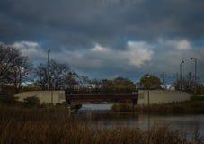 Brücke in Humboldt-Park Stockfotos