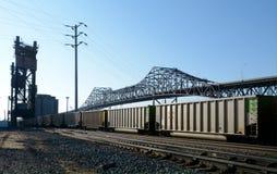 Brücke I-90 über Calumet-Fluss Lizenzfreies Stockfoto