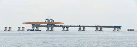 Brücke im Bau Stockfotos