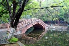 Brücke im chinesischen Park. Lizenzfreies Stockbild