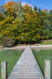Brücke im Herbst stockfotografie