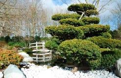 Brücke im japanischen Garten Lizenzfreie Stockfotos