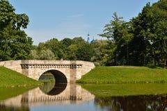 Brücke im königlichen Park Stockfotografie