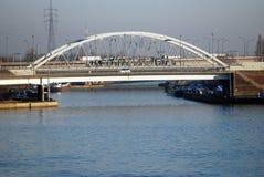 Brücke im Kanal von Antwerpen Lizenzfreie Stockfotografie