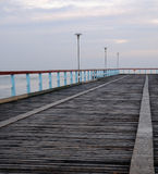 Brücke im Meer Stockfoto