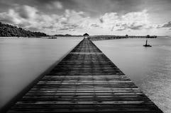 Brücke im Meer Stockbilder