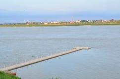 Brücke im Mekong stockfoto