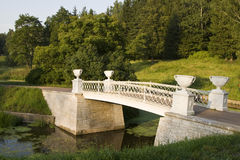 Brücke im Park Stockfotografie